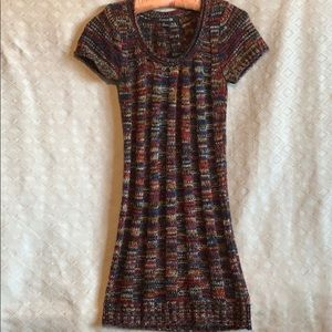 Forever 21 cable knit multicolor sweater dress